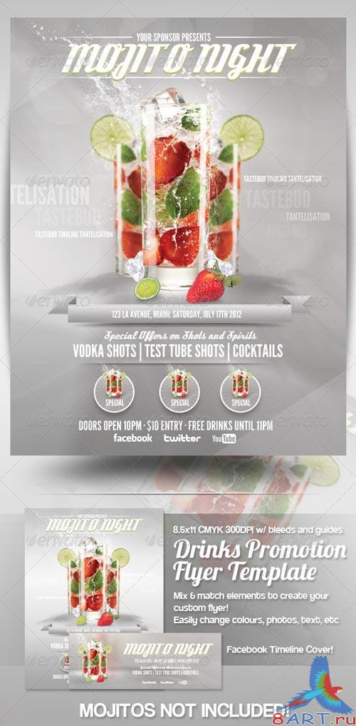 GraphicRiver Drinks Advert Flyer Template