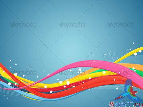 GraphicRiver Abstract Waves In Colors