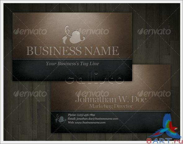Engraved Dark Classic Business Card - GraphicRiver