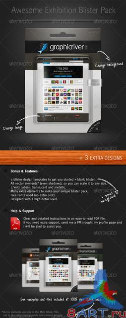 GraphicRiver Exhibition Blister Pack Mock-up