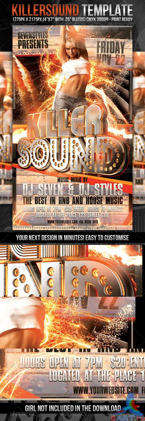 KillerSound Flyer Template