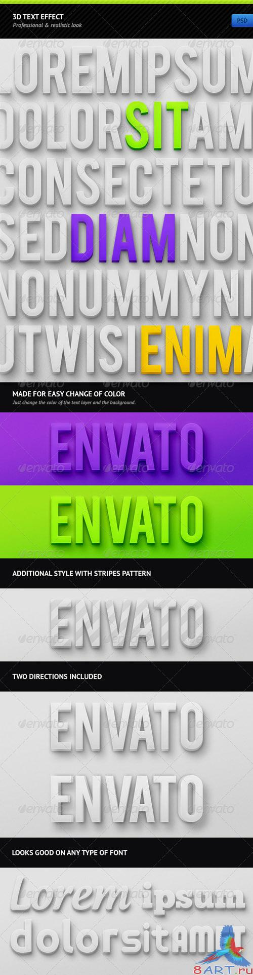 GraphicRiver 3D Text Effect - REUPLOAD
