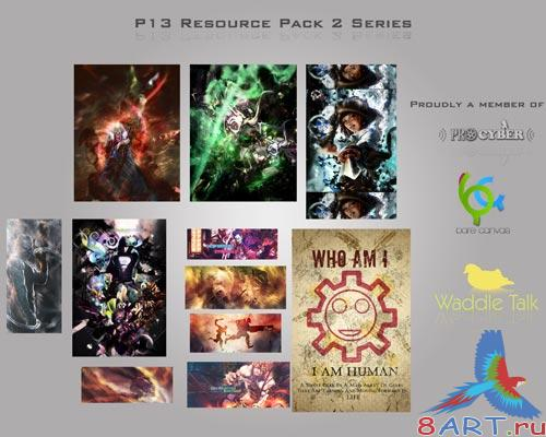 RCS2 PSD Pack - Baner Backgrond Sources