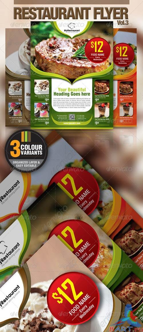 GraphicRiver Restaurant Flyer Vol.3