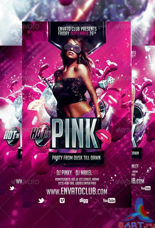 GraphicRiver Hot 'n Pink Flyer