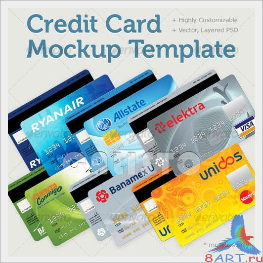 Credit Card Mockup Template - GraphicRiver