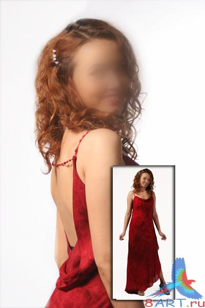 The girl in red dress - ������� � ������� ������� ������