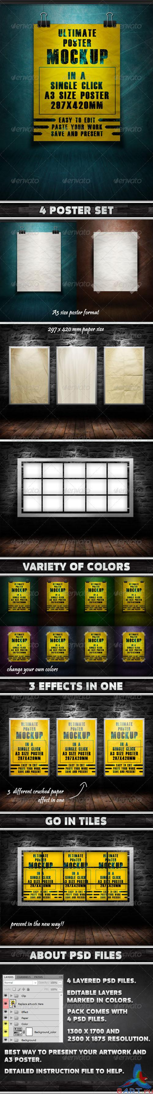 GraphicRiver - Ultimate Poster Mockup Pack -1 - 1332986
