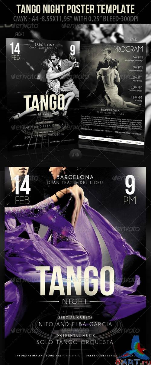 GraphicRiver Tango Night Poster Template & Tango Night-Flyer