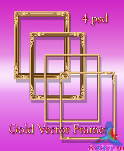 Gold Vector Frames