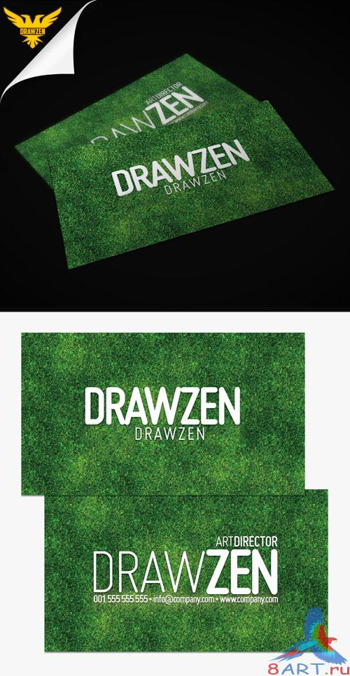 PSD Template - Grass Business Card