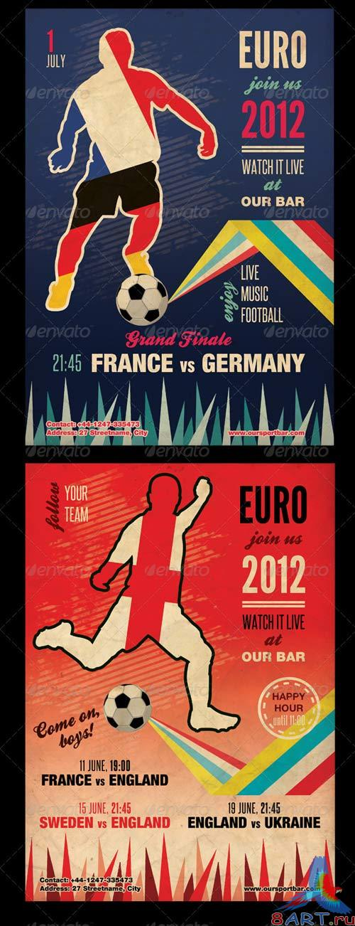 GraphicRiver Vintage Football Flyer Template