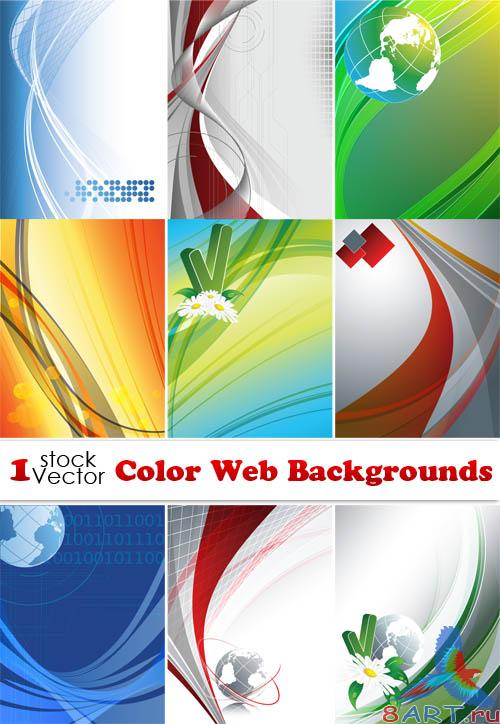 Color Web Backgrounds Vector