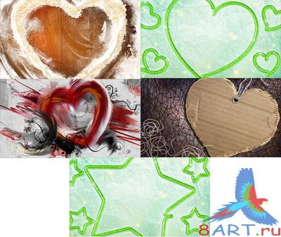PSD Layered Pictures - Hearts