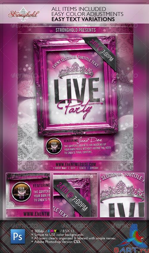 GraphicRiver Live Party Flyer Template
