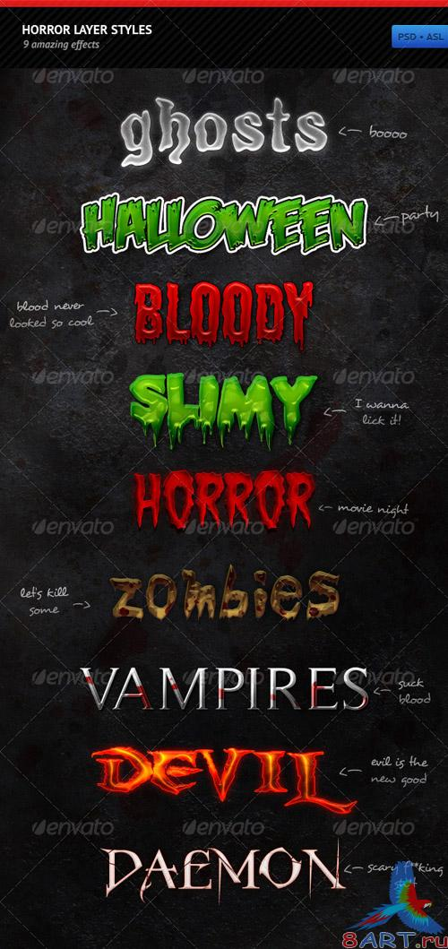 GraphicRiver Horror Layer Styles - REUPLOAD