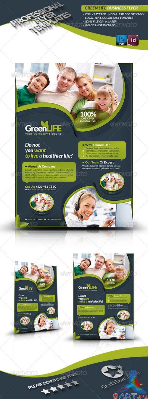 GraphicRiver Green Life Business Flyer
