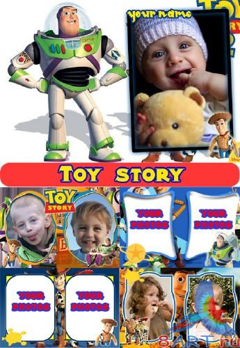 "Мультяшные рамки ""Toy story"" (6 PSD + 6 PNG)"