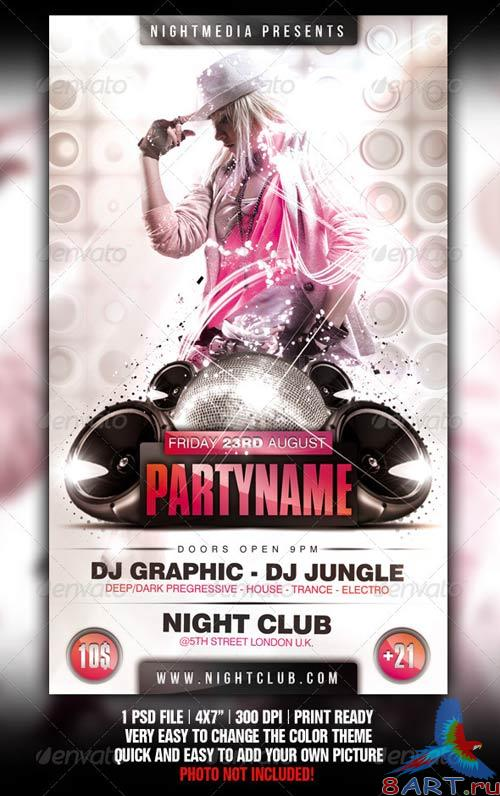 GraphicRiver White Party Flyer
