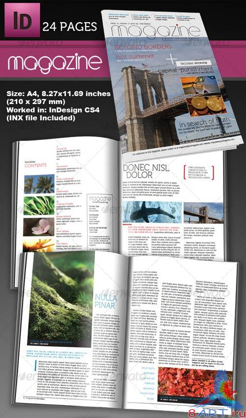GraphicRiver 24 Page InDesign Magazine A4