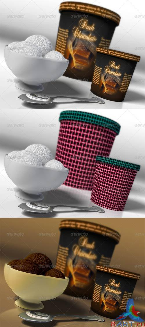 GraphicRiver Icecream Packaging Mockup