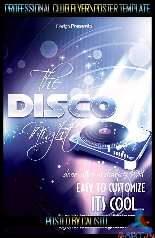 Disco Night Flyer/Poster Template