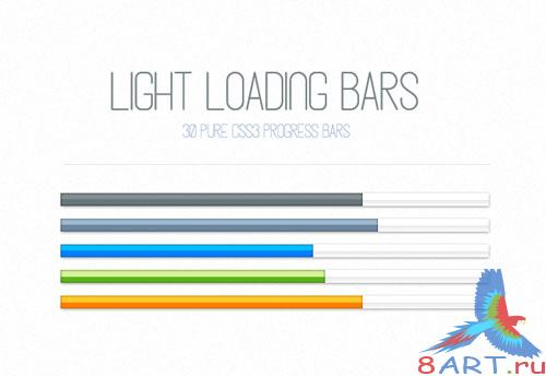 MediaLoot - Light CSS3 Loading Progress Bars