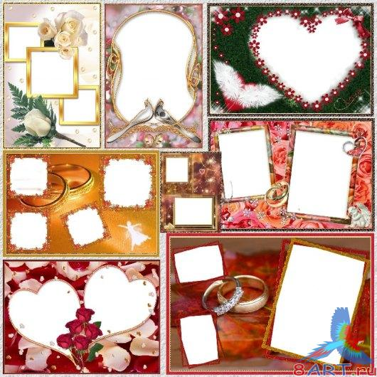 32Weddingframes PNG