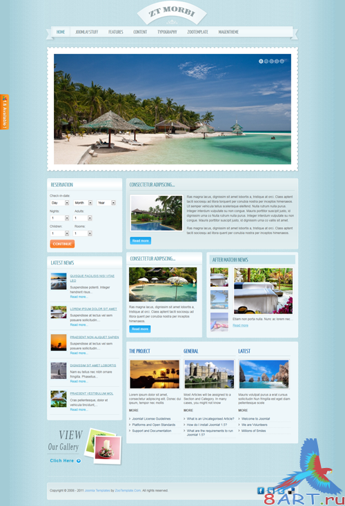 5 WebSite ZooTemplate for Joomla 1.6