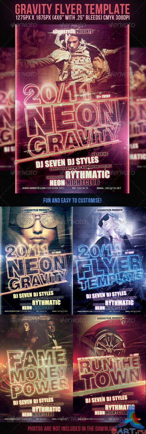 GraphicRiver - Gravity Flyer Template