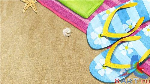 PSD - Slippers on sand