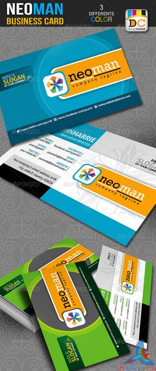 GraphicRiver NeoMan Corporate Business Cards