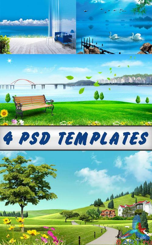 High resolution beautiful psd templates