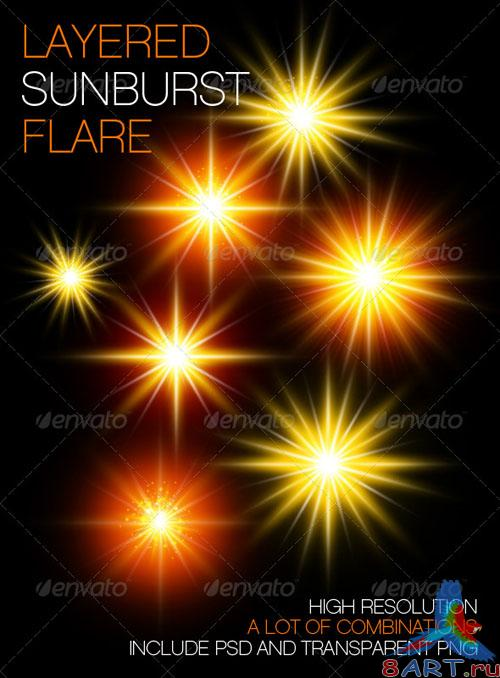 GraphicRiver - Layered Sunburst Flare 139349