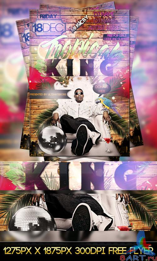 Tropical King Flyer/Poster PSD Template