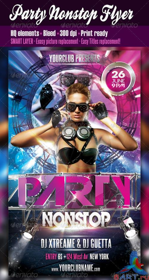 GraphicRiver Party Nonstop Flyer