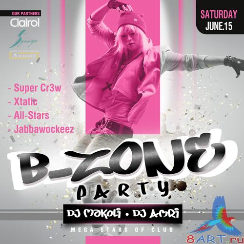 PSD poster - B-ZONE party
