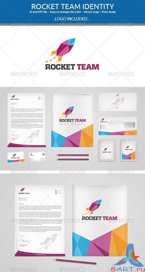 GraphicRiver Rocket Team Identity