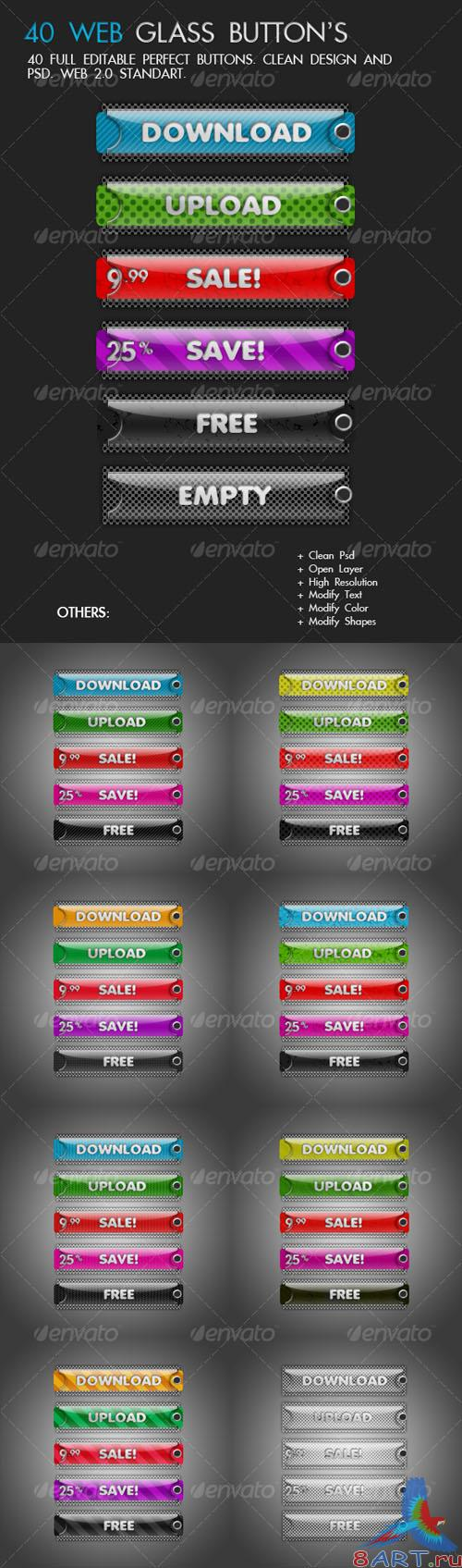 40 Candy Tags Button Version 2 - GraphicRiver