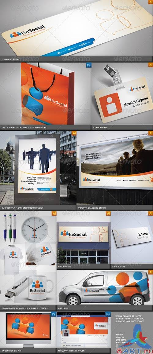 GraphicRiver Social Media Corporate Identity Catalog v5