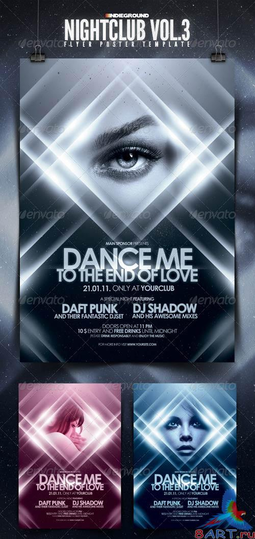 GraphicRiver Nightclub Flyer/Poster Template Vol. 3