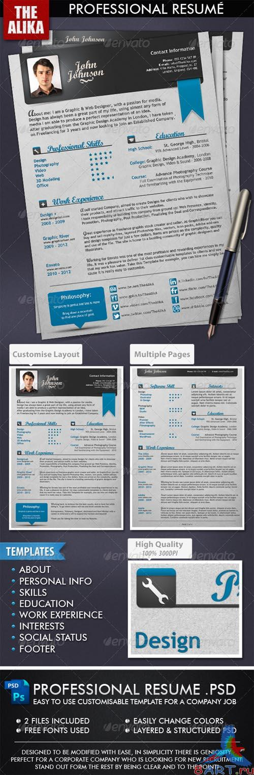 GraphicRiver Professional Resume