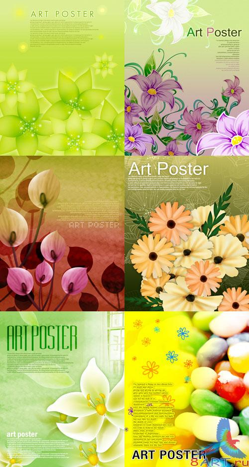 Flower backgrounds pack 17