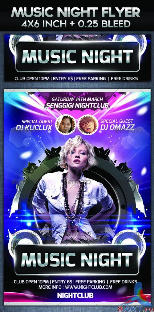 GraphicRiver Music Night Party Flyer Template