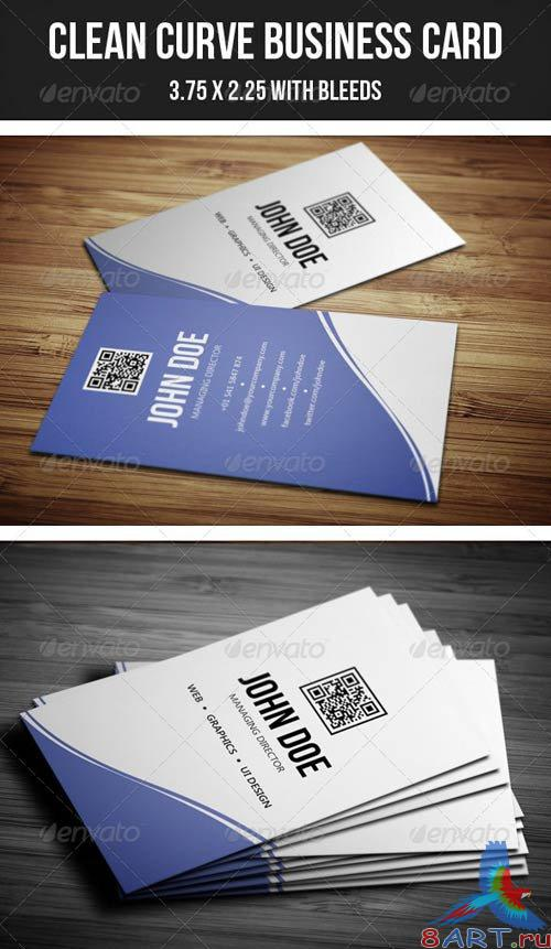 GraphicRiver Clean Curve Business Card - 30
