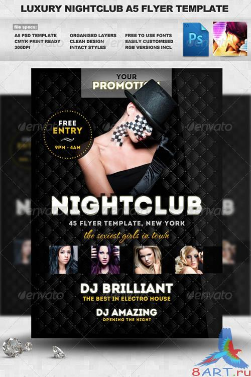 GraphicRiver Luxury Nightclub Flyer Template
