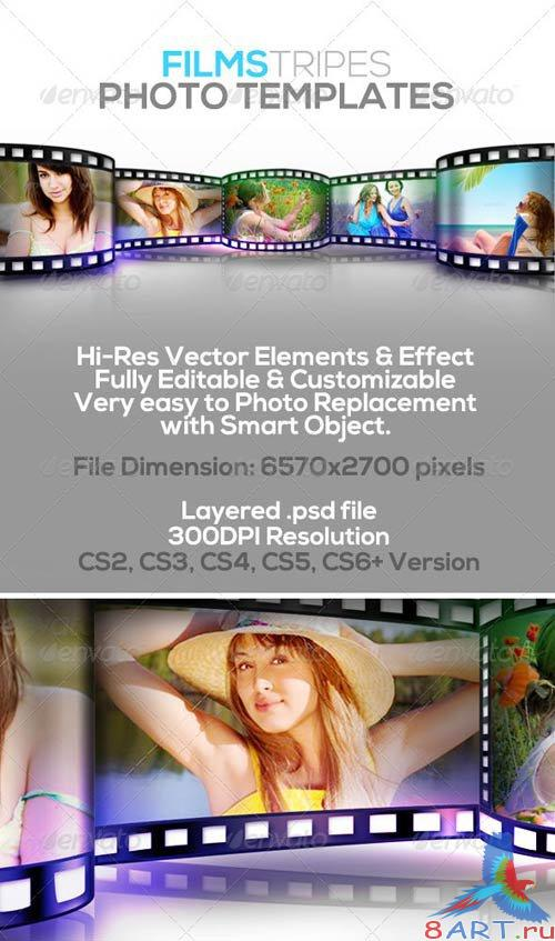GraphicRiver Film Stripes Photo Templates