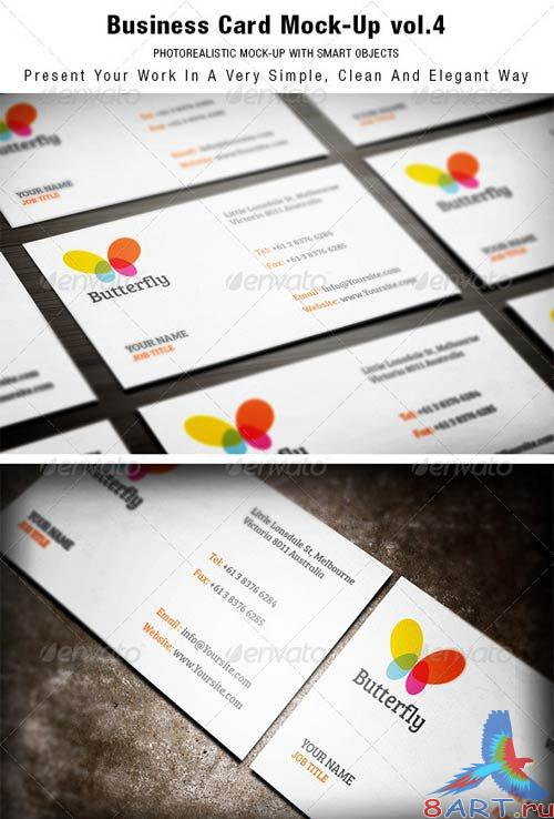 GraphicRiver Business Card Mock-up vol.4