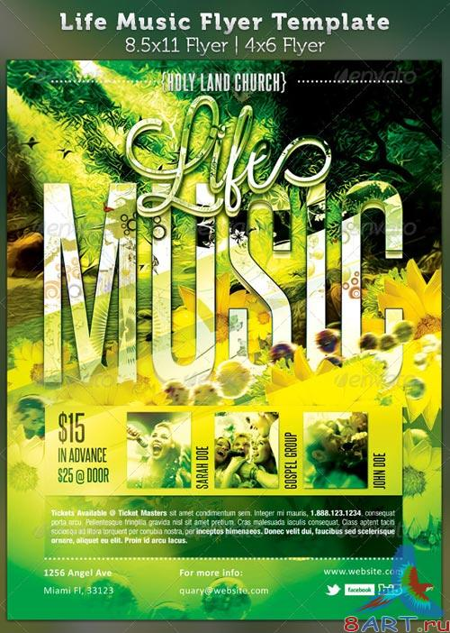 GraphicRiver Life Music Gospel Flyer Template