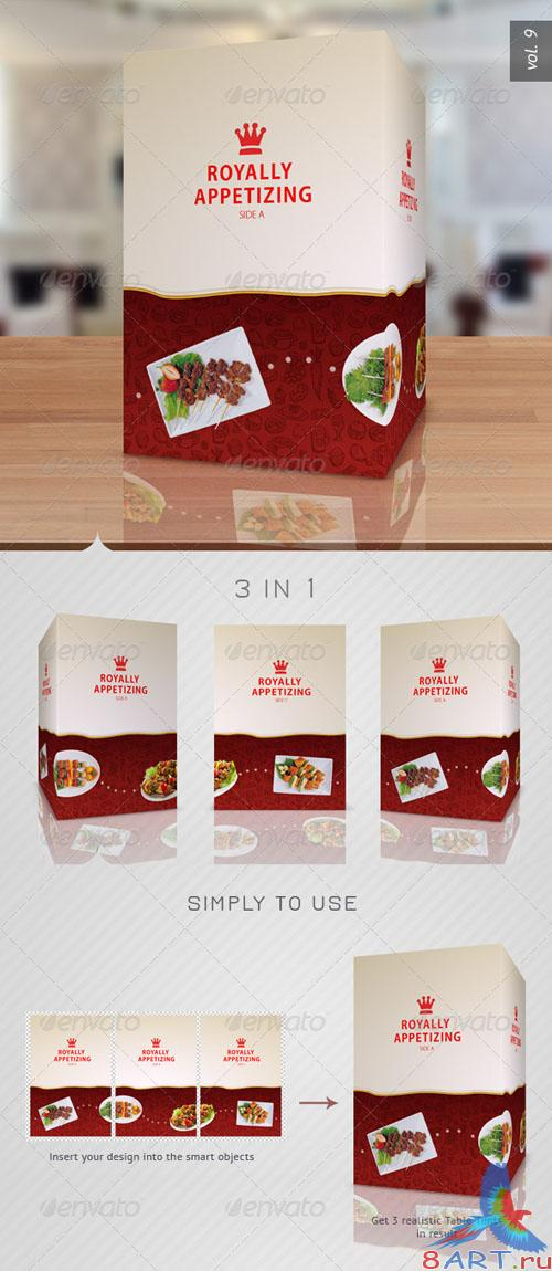 GraphicRiver - Paper Table Tent Mock-up Template Vol 9 - 2744645